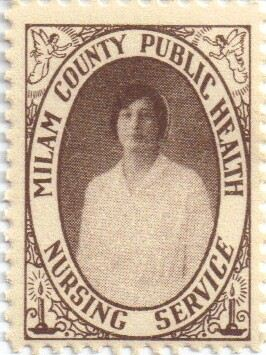 1930 Milam County, TX Public Health Nursing Service stamp