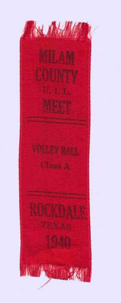 1940 Milam County, TX U.I.L meet - Rockdale, TX - Volleyball - red ribbon