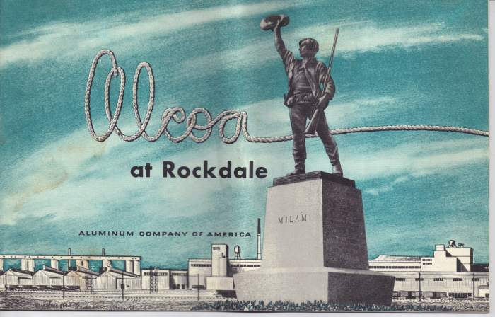 Alcoa Dedication - Rockdale TX - April 24, 1954 Ben Milam statue