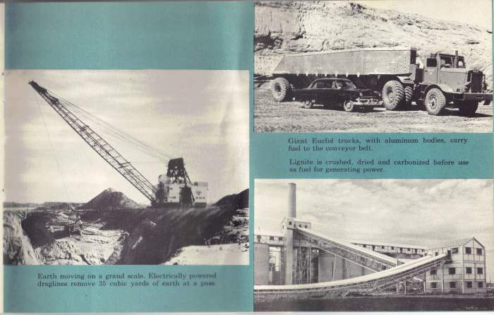 Alcoa Dedication - Rockdale TX - April 24, 1954 mining operation