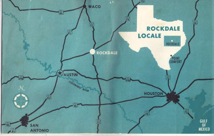 Alcoa Rockdale Works location map