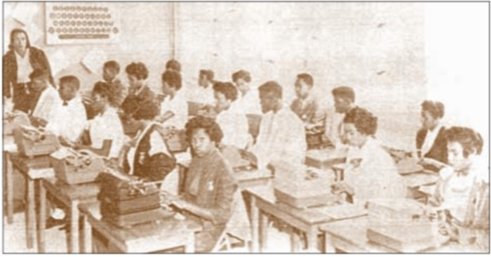 Aycock High School Typing Class