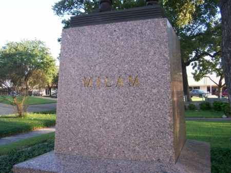 Ben Milam Historic Monument - Courthouse, Milam Cy, TX