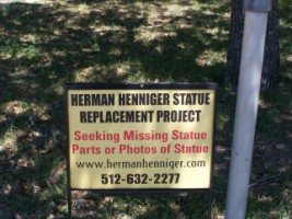 Bushdale Cemetery - Herman Henniger Statue Replacement Project
