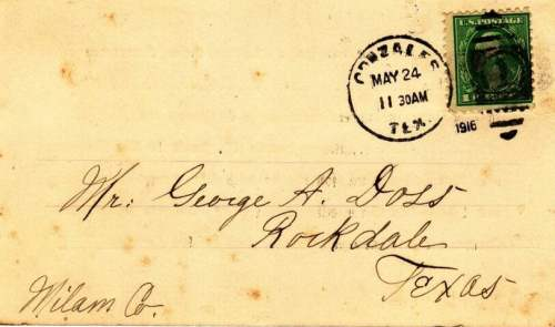 George A. Doss invitation to Confederate States America reunion - 1916