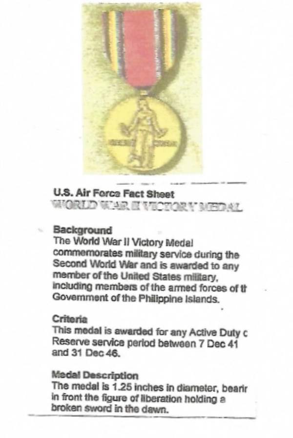 U.S. Victory Medal WWII