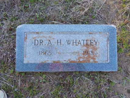 Dr A. H. Whatley - Harmony Cemetery