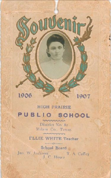 High Prairie, TX Public School - Ellie White, teacher