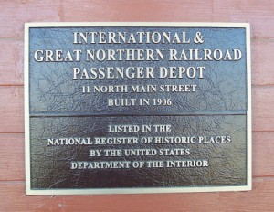 National Register marker - International & Great Northern Railroad, Rockdale, TX