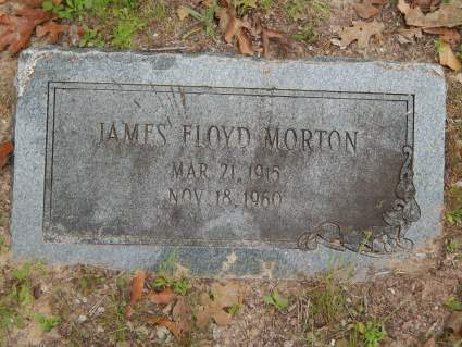 James Floyd Morton tombstone