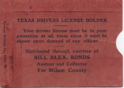 Bill Alex Bonds, Tax Assessor - Collector - Milam County, TX