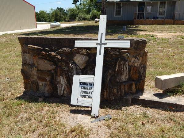 Johnny Horton Memorial damaged