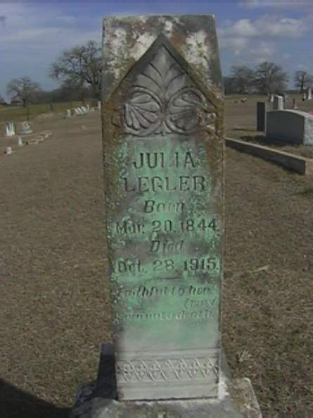 Julia Legler - Sharp Cemetery, Texas