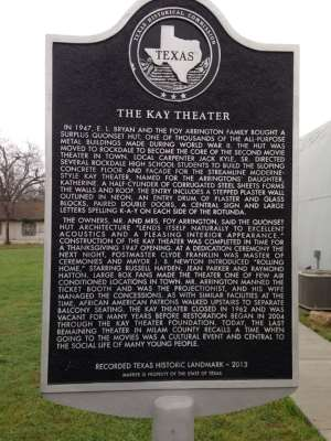 Kay Theatre - Texs Historical Marker