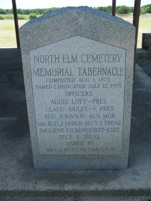 North Elm Cemetery Historical Marker, Milam County, TX
