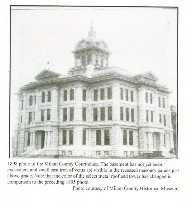 1898 Milam County TX Courthouse