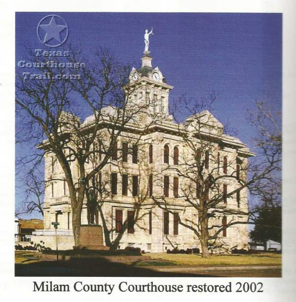 2002 Milam County TX Courthouse