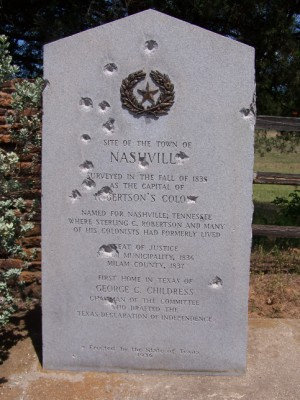 Town of Nashville Historical Marker, Gause, Milam, TX