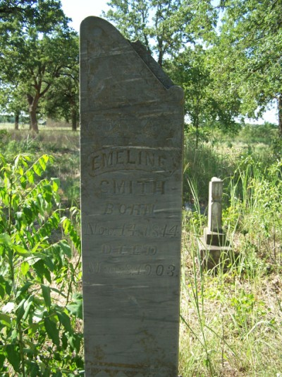 Emeline Smith grave - New Salem Cemetery - Rockdale, Milam, TX