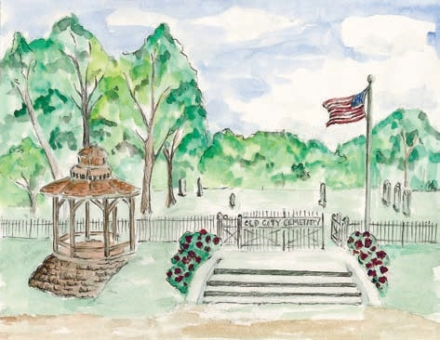 Old City Cemeery drawing by Michele Fletcher