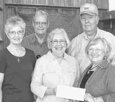 I&GN HIstorical Depot accepts donation from Linwood Acres Garden Club