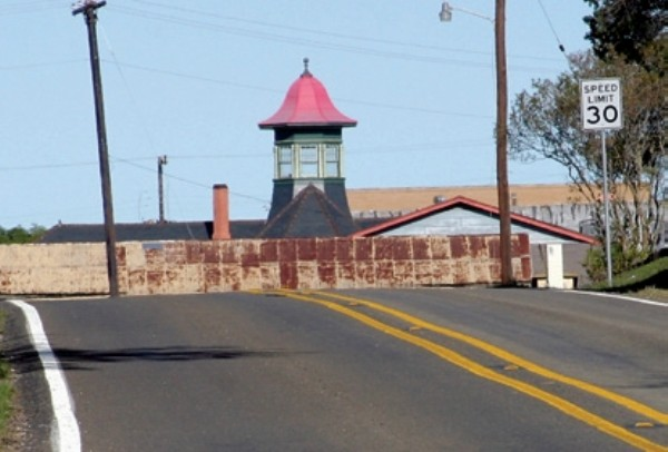 VIew of Rockdale, TX I&GN Railroad cupola