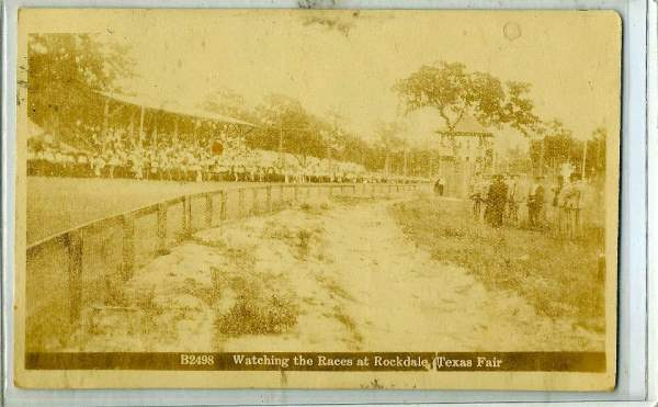 Watching the Races at Rockdale Texas Fair 1912