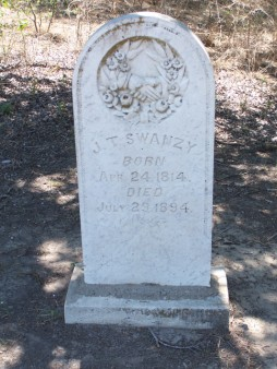 J. T. Swanzy, San Andres Cemetery, Milam County, TX