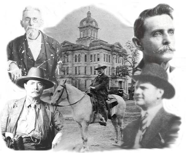 Past Sheriffs of Milam County: Dillashaw, Todd, Avriett, Rogers