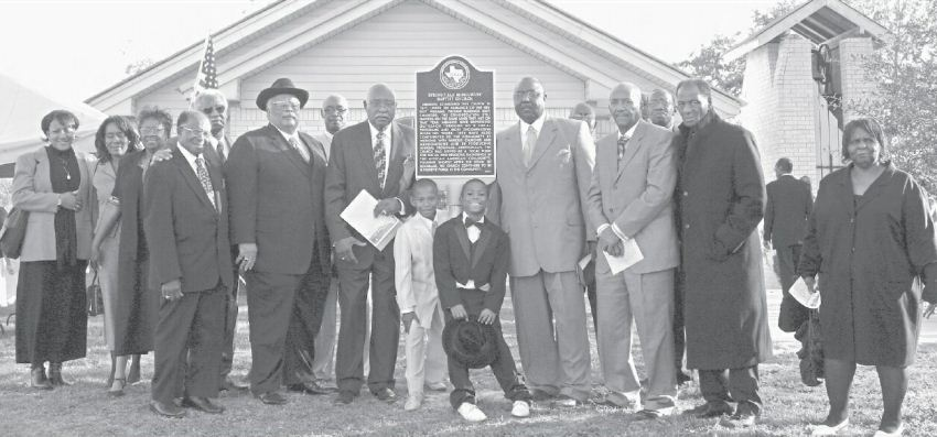 Springfield Baptist Church, Rockdale, TX receives Texas Historical Commission Historical Marker