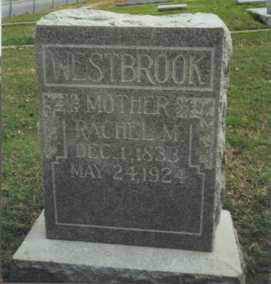 Rachel Westbrook was buried in the I.O.O.F. Cemetery in Denton, TX