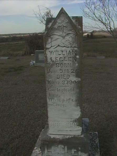 William Legler - Sharp Cemetery, TX